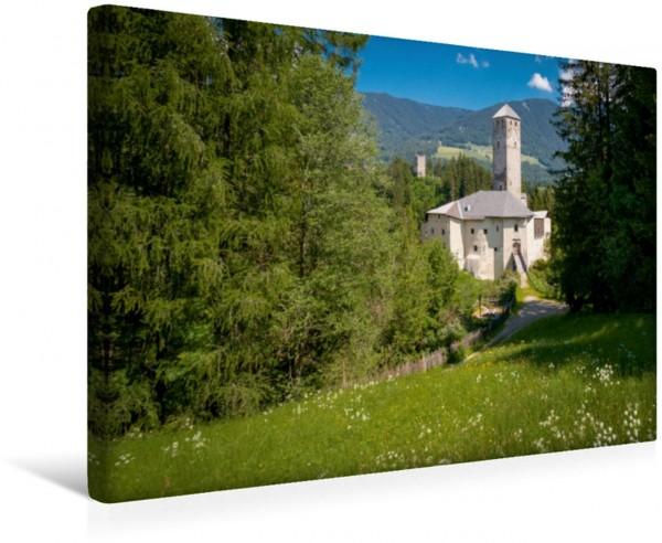 Wandbild Schloss Welsperg im südtiroler Pustertal Das grüne Alpental in Italien Das grüne Alpental in Italien