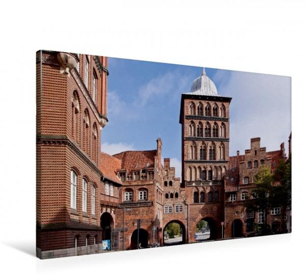 Wandbild Lübeck - Hanseschönheit in Insellage Lübeck Burgtor Lübeck Burgtor
