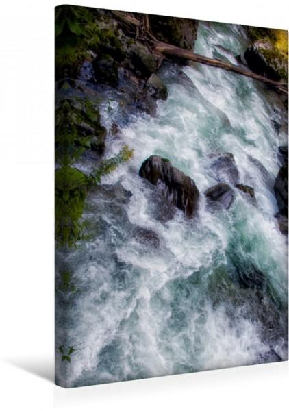Wandbild Malerische Strudel Flussbett mit Steinen Flussbett mit Steinen