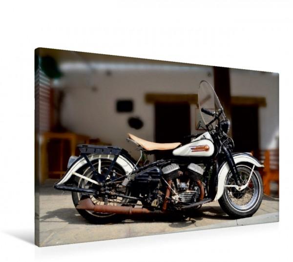 Wandbild Harley Davidson WLA 750