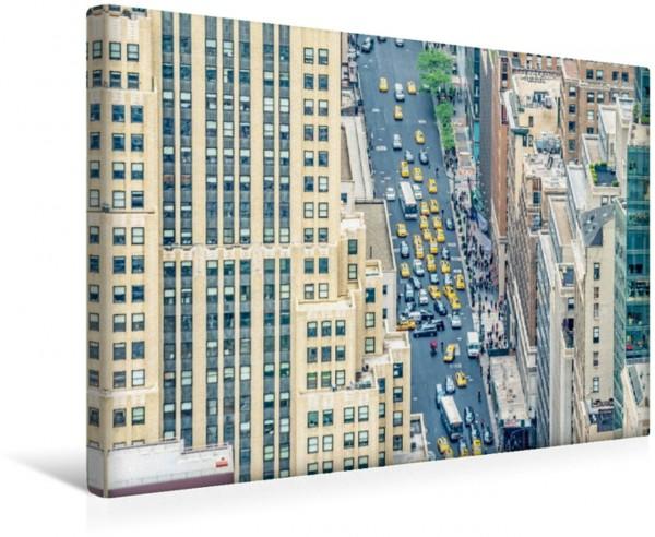 Wandbild Hingucker auch aus der Ferne - unzählige Yellow Cabs in Manhattan Yellow Cabs New York City USA Yellow Cabs New York City USA