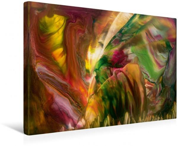 Wandbild Vielfältige Natur – Encaustic Der Wind – oben rechts im Bild - bläst durch Wald und Flur und bringt sie in Bewegung. Der Wind – oben rechts im Bild - bläst durch Wald und Flur und bringt sie