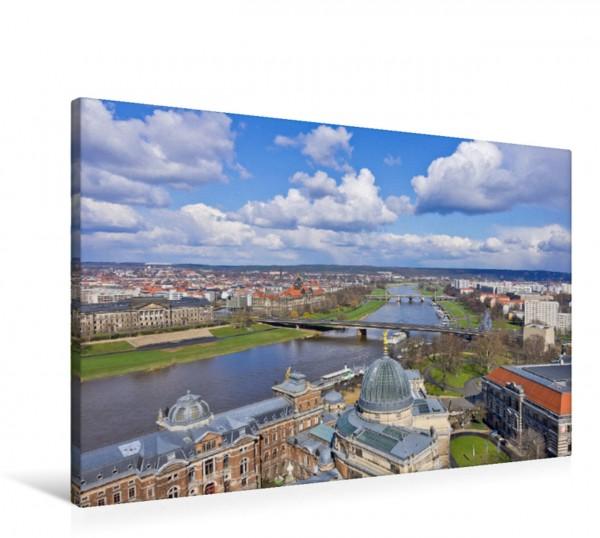Wandbild Blick über Dresden Blick über die Dächer Dresdens und die Elbe von der Altstadt in Richtung Neustadt. Blick über die Dächer Dresdens und die Elbe von der Altstadt in Richtung Neustadt.