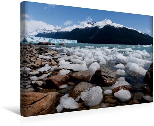 Wandbild Eisschollen im Lago Agentino in Patagonien