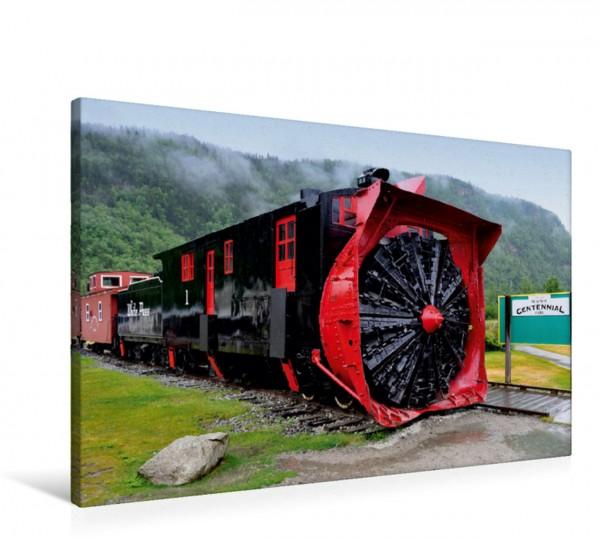 Wandbild Die historische Schneefräse Nr. 1 von 1899 Eisenbahnfahrt in Alaska Eisenbahnfahrt in Alaska