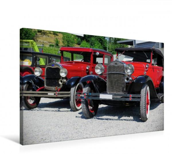 Wandbild Ford Geschwister Oldtimer Festival mit Ford Gangsterwagen Oldtimer Festival mit Ford Gangsterwagen