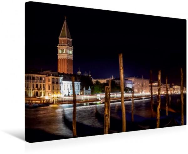 Wandbild VENEDIG Markusturm und Canal Grande Abendstimmung Abendstimmung