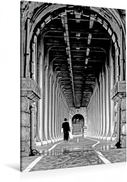 Wandbild Bir Hakeim Brücke in Paris