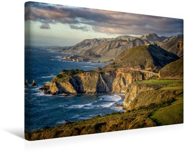 Wandbild Küstenlinie bei Carmel
