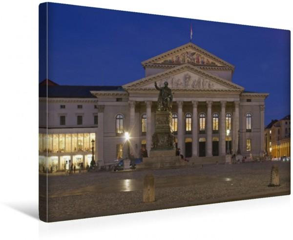 Wandbild Nationaltheater München Das Nationaltheater ein Hauptwerk des europäischen Klassizismus ist der Spielort der Bayerischen Staatsoper des Bayerischen Staatsorchesters und des Bayerischen Staats