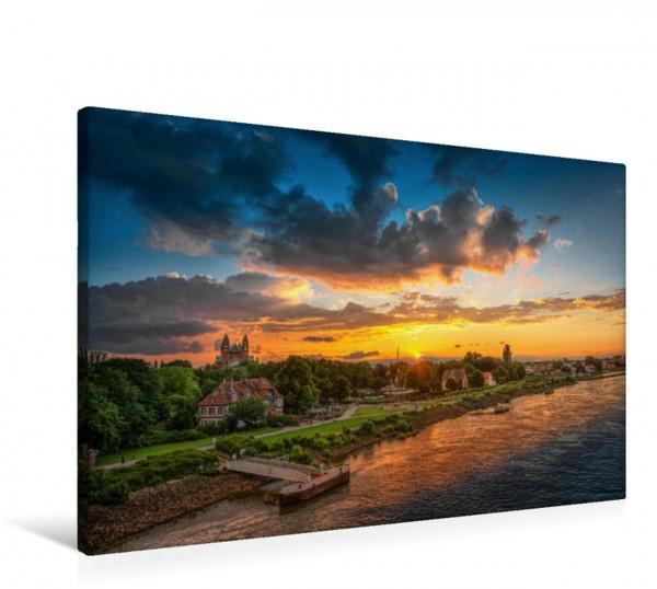 Wandbild Epische Sonnenuntergänge im Rhein-Neckar-Kreis