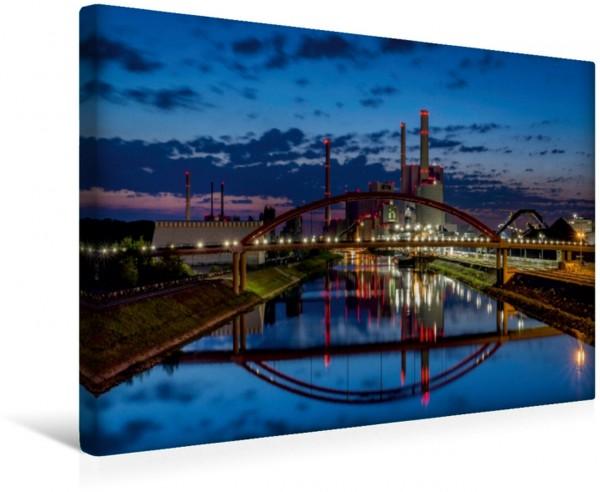Wandbild Das Großkraftwerk Mannheim Das Steinkohlekraftwerk kurz genannt GKM erzeugt Strom für rund 2,5 Millionen Menschen Gewerbe und Industrie sowie Fernwärme für rund 120000 Haushalte. Das Steinkoh