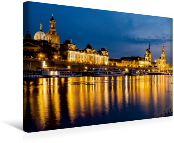 Wandbild Dresden - Panorama Altstadt Das klassische Dresdner Panorama erstrahlt in nächtlichem Glanz. Das klassische Dresdner Panorama erstrahlt in nächtlichem Glanz.