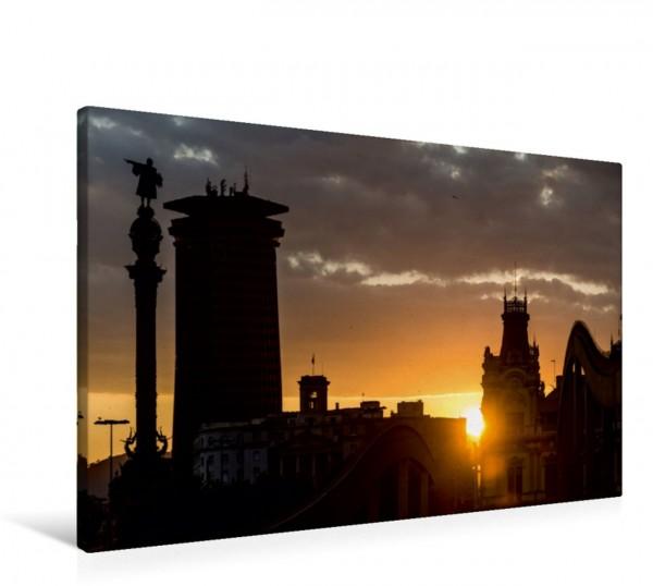 Wandbild Emotionale Momente: Barcelona - die Kolumbus- Statue.