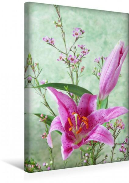 Wandbild Lilienblüten und Wachsblumen