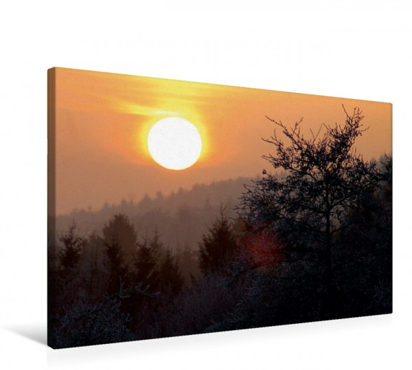 Wandbild Sonnenuntergang bei Haina Kloster