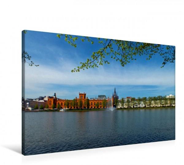 Wandbild Pfaffenteich mit Herzoglichem Arsenal Entdeckungen in Schwerin Entdeckungen in Schwerin