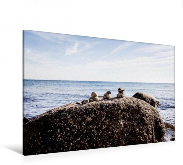Wandbild Entenfamilie am Strand