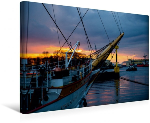Wandbild Maritimes zum Sonnenuntergang