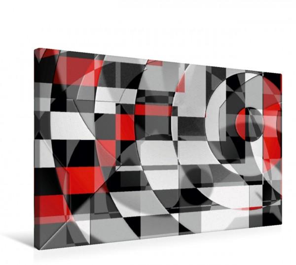Wandbild Schwarz weiß trifft rot Version 1