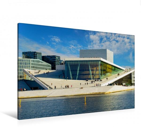 Wandbild Die Oper in Oslo der Hauptstadt von Norwegen