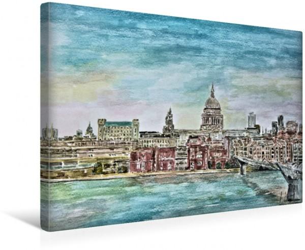 Wandbild Skyline London mit St. Paul´s Cathedral