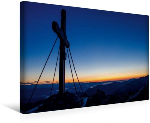 Wandbild Sonnenaufgang am Mangart 2.677 m, Slovenien