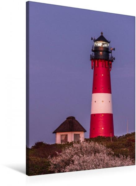 Wandbild Es wird Abend am Leuchtturm Hörnum Leuchtturm Hörnum auf Sylt in der Dämmerung Leuchtturm Hörnum auf Sylt in der Dämmerung
