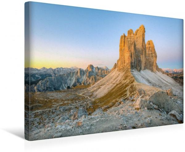 Wandbild Die Drei Zinnen in Südtirol im Morgenlicht