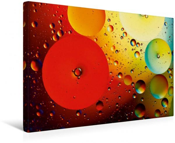 Wandbild Farbrausch mit Öl und Wasser