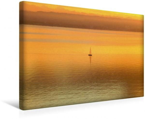 Wandbild Sonnenuntergang am Bodensee
