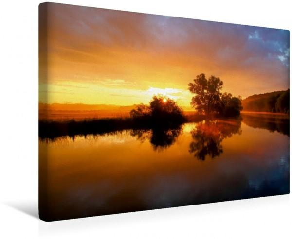 Wandbild Mystische Momente - Nebelstimmungen an der Ruhr Traumhafter Sonnenaufgang Traumhafter Sonnenaufgang