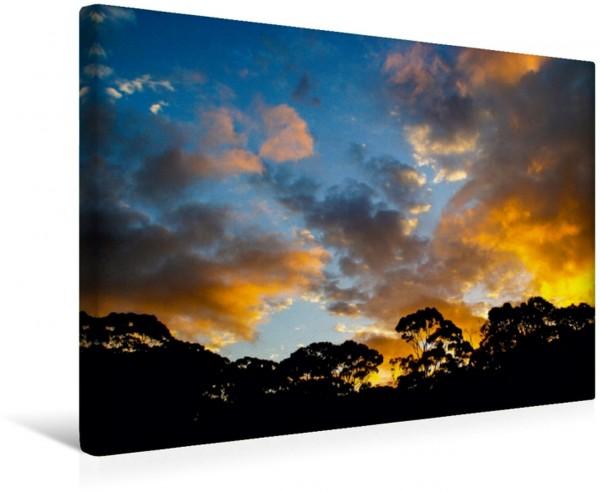 Wandbild Sonnenuntergang über Tasmanien