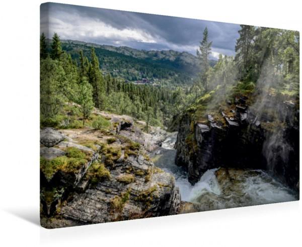 Wandbild Wasserfall Rondane-Nationalpark Norwegens wilde Natur Norwegens wilde Natur