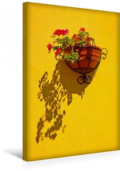 Wandbild Mittelmeer Stimmung - Gran Canaria Blumenmotiv im kanarischen Stil Blumenmotiv im kanarischen Stil