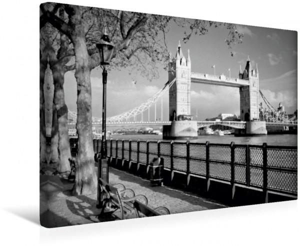 Wandbild TOWER BRIDGE Am Ufer der Themse Londoner Sehenswürdigkeit Londoner Sehenswürdigkeit