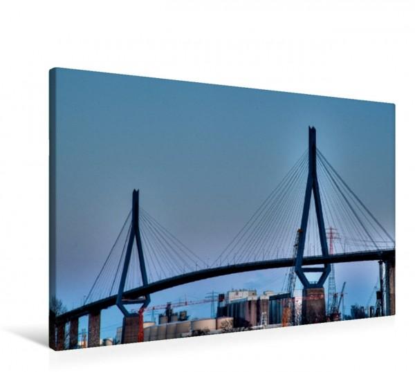 Wandbild Köhlbrandbrücke Eines der Wahrzeichen des Hamburger Hafens Eines der Wahrzeichen des Hamburger Hafens