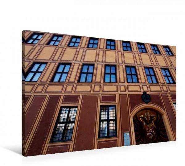 Wandbild Fassade des Fuggerhauses, Augsburg, Deutschland Fassade des Fuggerhauses Augsburg Deutschland Fassade des Fuggerhauses Augsburg Deutschland