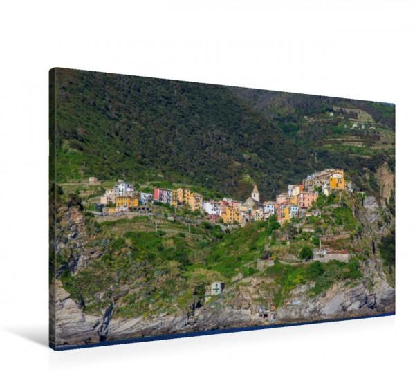 Wandbild Corniglia vom Meer