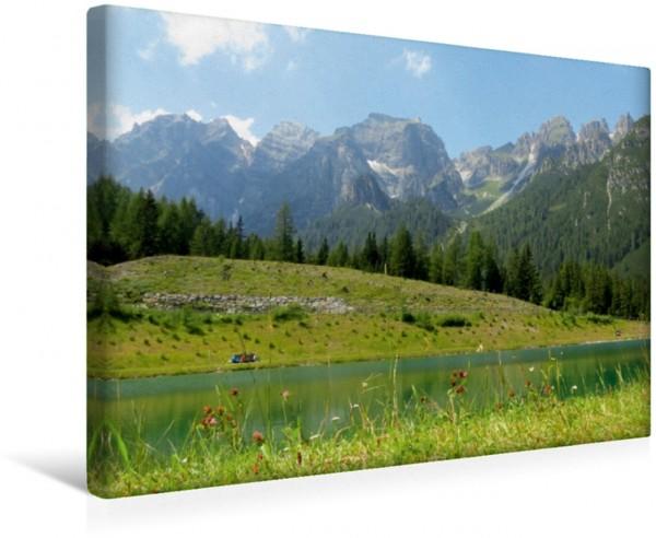 Wandbild Berge Panoramasee In den Bergen Leinwandbild