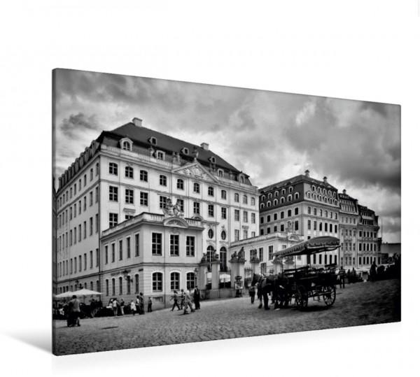 Wandbild DRESDEN Neumarkt Klassisches monochromes Stadtbild Klassisches monochromes Stadtbild