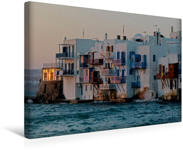 Wandbild Klein Venedig, Häuser an der Wasserseite