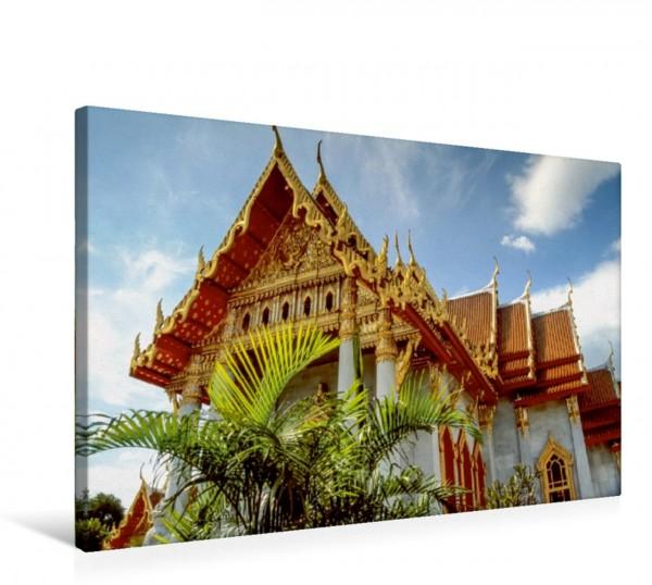 Wandbild Buddhistischer Tempel Wat Benchamabophit in Bangkok, Thailand