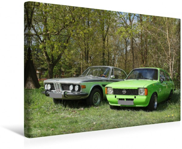 Wandbild BMW und Opel Kadett C
