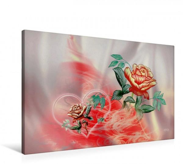 Wandbild Rose Buntstiftzeichnung Buntstiftzeichnung