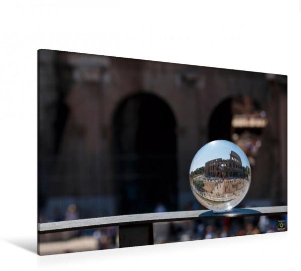 Wandbild Italien   Roma   Colosseum   Gedreht   Glaskugel
