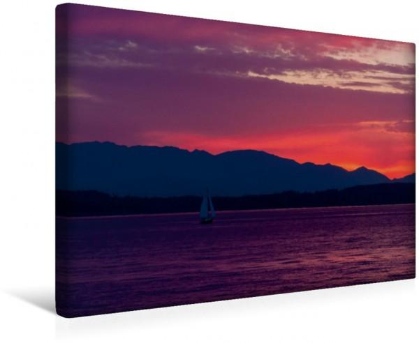 Wandbild Puget Sound Sonnenuntergang