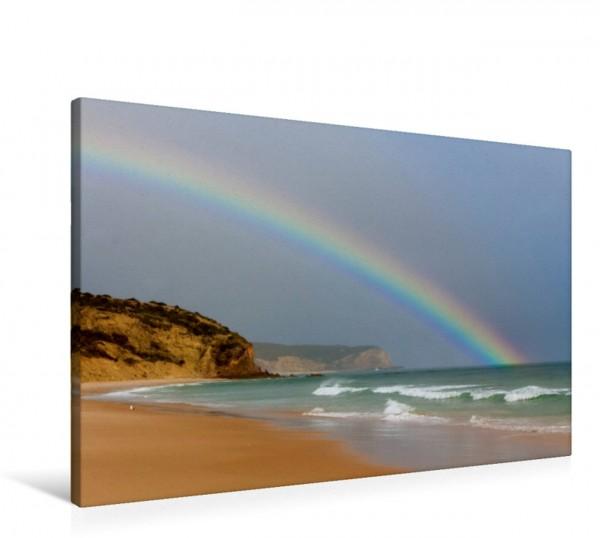 Wandbild Regenbogen am Strand von Luz