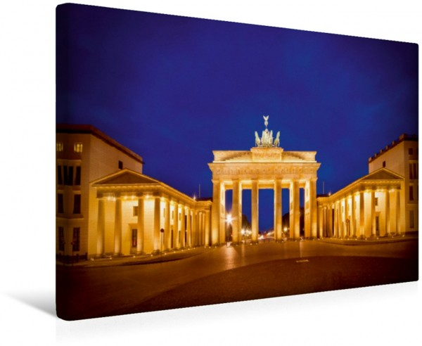 Wandbild Berlin Brandenburger Tor bei Nacht Leinwandbild