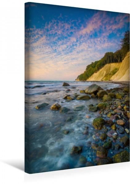 Wandbild Sonnenaufgang an der Kreideküste Die traumhafte Steilküste auf Insel Rügen an einem Morgen im Herbst Die traumhafte Steilküste auf Insel Rügen an einem Morgen im Herbst